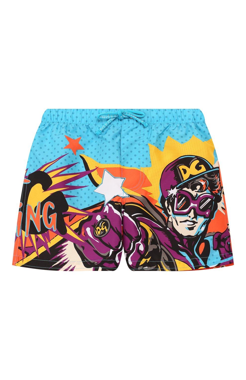 Детского плавки-шорты DOLCE & GABBANA разноцветного цвета, арт. L1J818/G7SPN   Фото 1