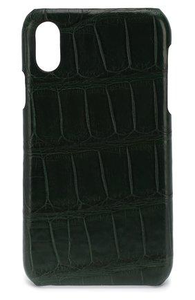 Мужской чехол для iphone x/xs 2MESTYLE зеленого цвета, арт. DD893 | Фото 1
