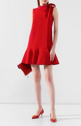 Женская кожаные туфли valentino garavani go logo VALENTINO красного цвета, арт. SW2S0Q63/DSH | Фото 2