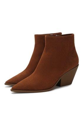 Женские замшевые ботинки CASADEI коричневого цвета, арт. 1Q924N0601CAM0S2608 | Фото 1