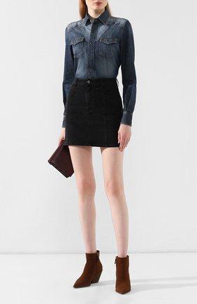 Женские замшевые ботинки CASADEI коричневого цвета, арт. 1Q924N0601CAM0S2608 | Фото 2