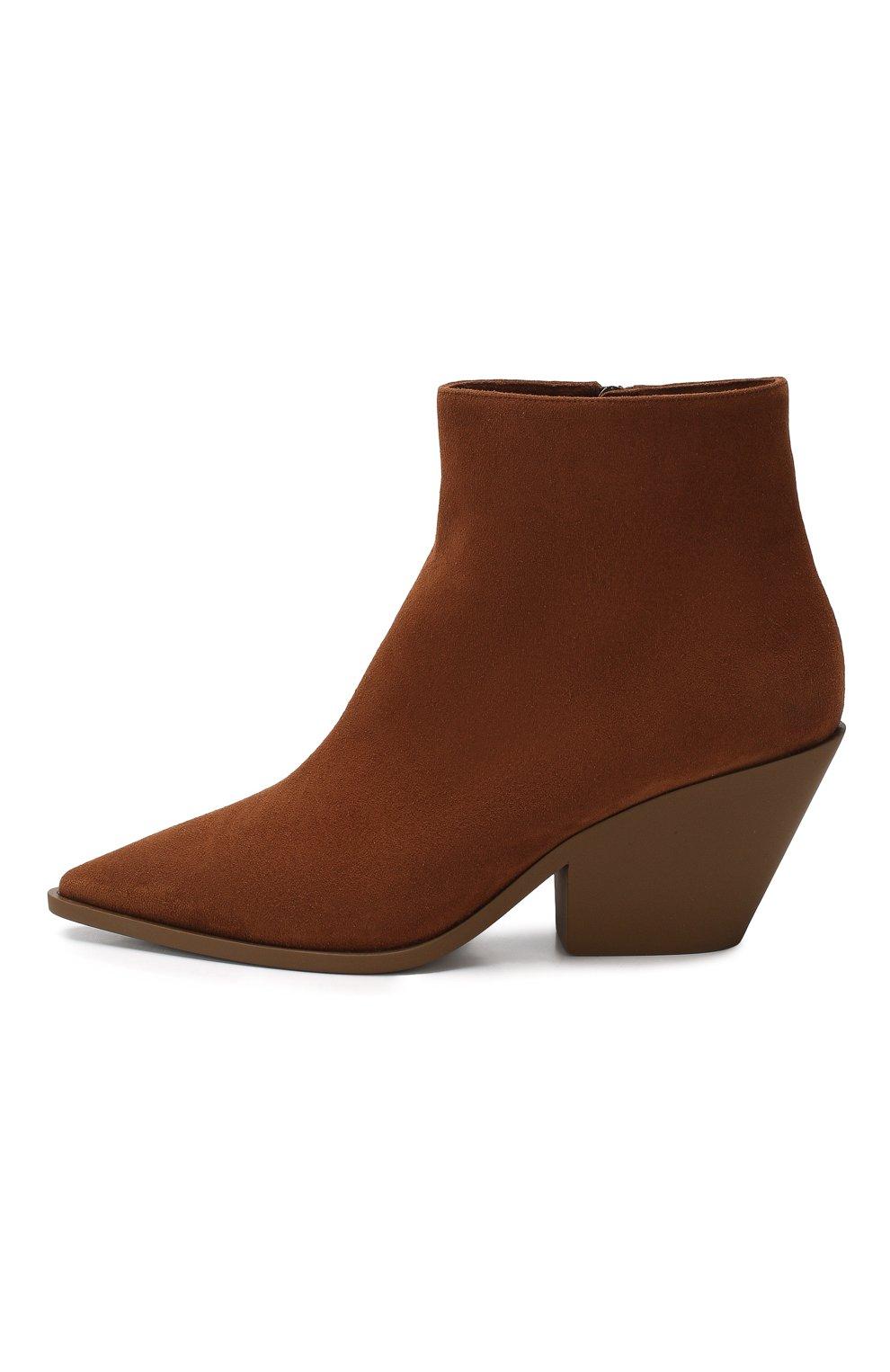 Замшевые ботинки   Фото №3
