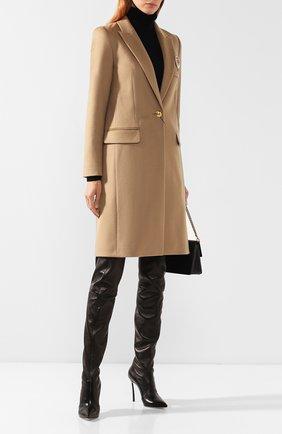 Женские кожаные ботфорты CASADEI черного цвета, арт. 1T908L100HHNAGU9000 | Фото 2