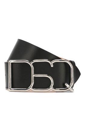 Женский кожаный ремень DSQUARED2 черного цвета, арт. BEW0152 01500001 | Фото 1