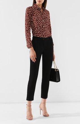 Женские хлопковые брюки DOLCE & GABBANA черного цвета, арт. FTAGNT/FUFIS | Фото 2