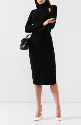 Женская кашемировая юбка TOM FORD черного цвета, арт. GCK079-YAX226   Фото 2