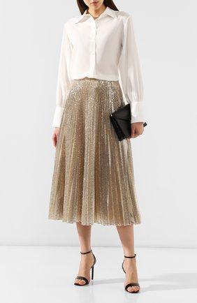 Женская юбка с пайетками RALPH LAUREN золотого цвета, арт. 290767261 | Фото 2