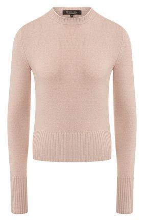 Женский кашемировый пуловер LORO PIANA светло-розового цвета, арт. FAI8685   Фото 1