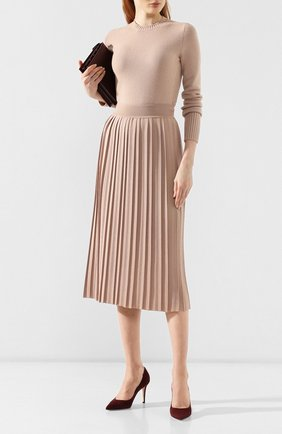 Женская юбка из смеси кашемира и шелка LORO PIANA светло-розового цвета, арт. FAI7166   Фото 2