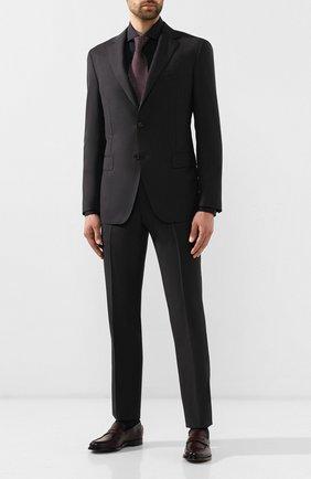 Мужская хлопковая рубашка BOSS черного цвета, арт. 50413802 | Фото 2