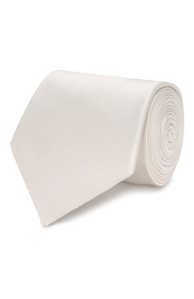 Мужской шелковый галстук GIORGIO ARMANI белого цвета, арт. 360054/8P998 | Фото 1