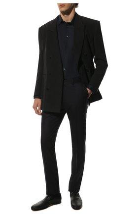 Мужские кожаные лоферы BRIONI темно-синего цвета, арт. QFCV0L/P8718 | Фото 2