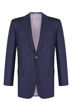 Мужской шерстяной пиджак BRIONI темно-синего цвета, арт. RGI30L/P8A80/PARLAMENT0 | Фото 1
