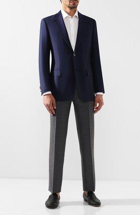 Мужской шерстяной пиджак BRIONI темно-синего цвета, арт. RGI30L/P8A80/PARLAMENT0 | Фото 2