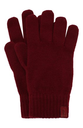 Мужские кашемировые перчатки GIORGIO ARMANI красного цвета, арт. 744141/7A211 | Фото 1