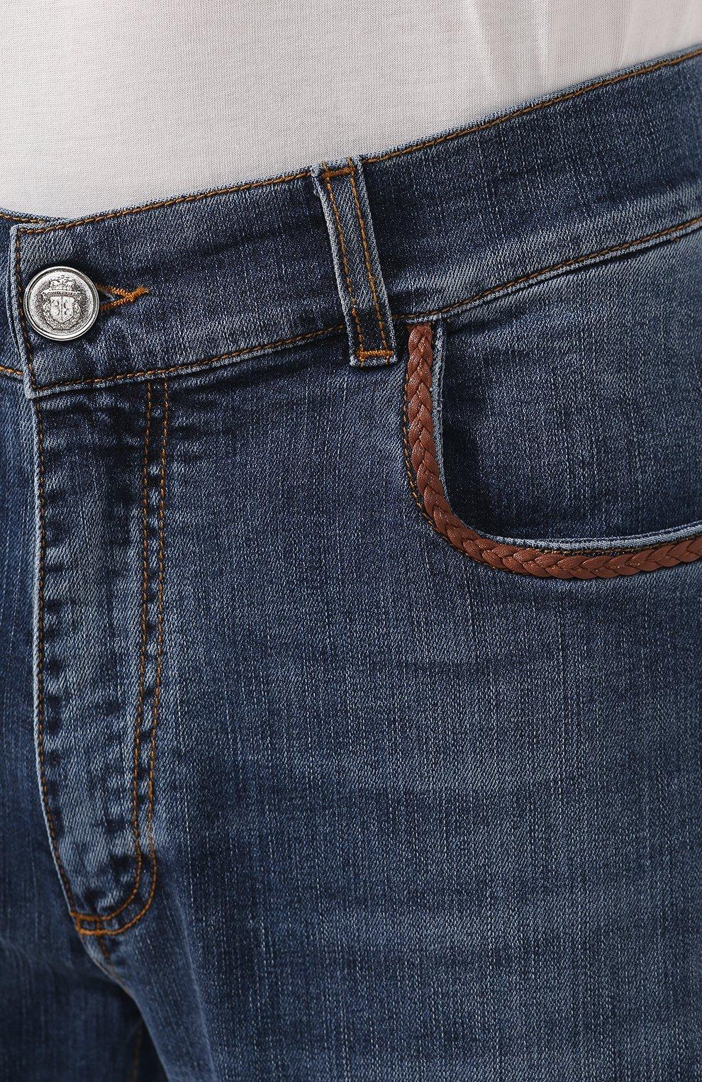 Мужские джинсы BILLIONAIRE синего цвета, арт. I19C MDT1470 BTE001N | Фото 5
