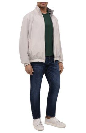Мужская хлопковая футболка DOLCE & GABBANA зеленого цвета, арт. G8KJ9T/FU7EQ   Фото 2 (Статус проверки: Проверено, Проверена категория; Материал внешний: Хлопок; Рукава: Короткие; Длина (для топов): Стандартные; Принт: Без принта; Стили: Кэжуэл)