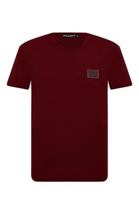 Мужская хлопковая футболка DOLCE & GABBANA бордового цвета, арт. G8KJ9T/FU7EQ | Фото 1