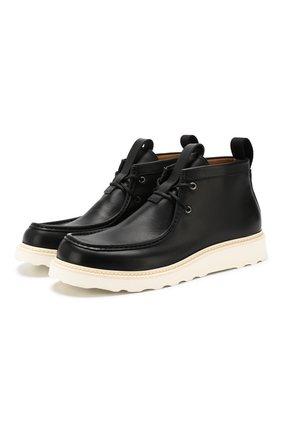Мужские кожаные ботинки BOTTEGA VENETA черного цвета, арт. 578287/VIFH0 | Фото 1