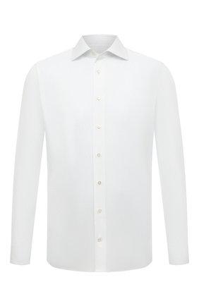 Мужская хлопковая сорочка ZILLI белого цвета, арт. MFS-MERCU-12180/RZ01 | Фото 1