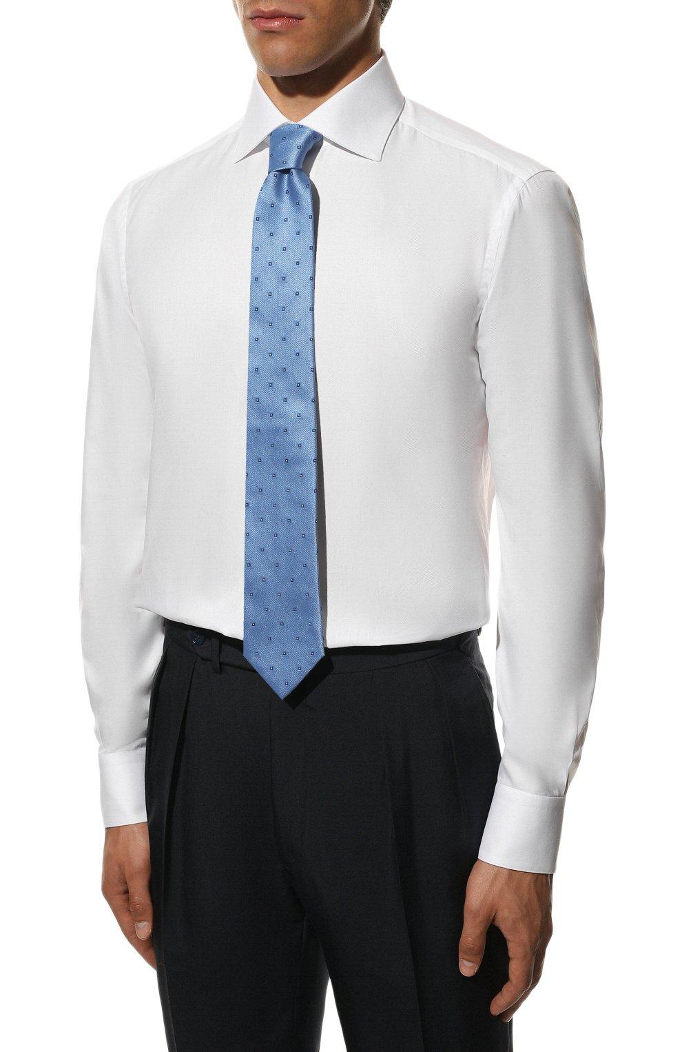 Мужская хлопковая сорочка ZILLI белого цвета, арт. MFS-MERCU-12180/RZ01 | Фото 3