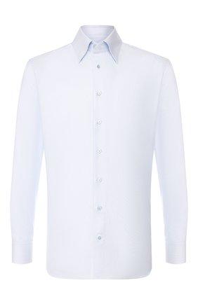 Мужская хлопковая сорочка ZILLI голубого цвета, арт. MFS-MERCU-01102/RZ01 | Фото 1