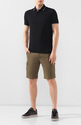 Мужские кожаные кеды SANTONI серого цвета, арт. MBGL20850SP0RG00G62 | Фото 2