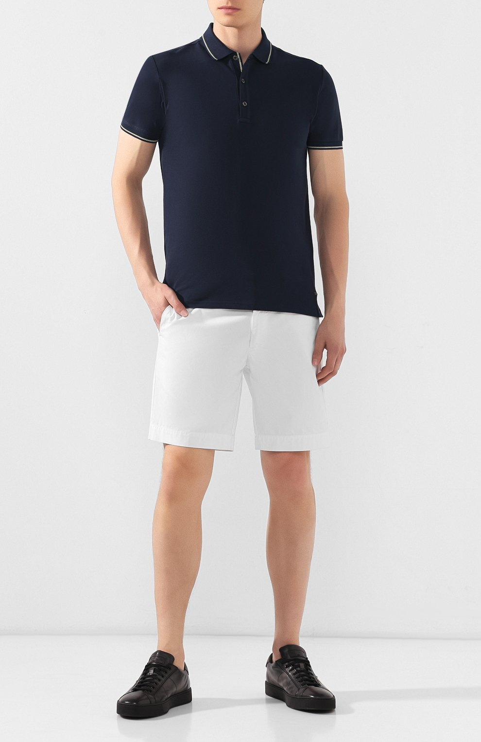 Мужские кожаные кеды SANTONI серого цвета, арт. MBGL20850NE0RG0TG62   Фото 2 (Материал внутренний: Натуральная кожа; Статус проверки: Проверено; Подошва: Массивная)