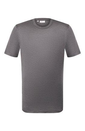 Мужская шелковая футболка BRIONI темно-серого цвета, арт. UJCH0L/P8619 | Фото 1
