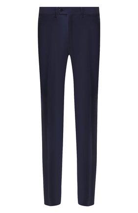 Мужской брюки из смеси шерсти и кашемира BRIONI темно-синего цвета, арт. RPL20W/08AB9/M0ENA | Фото 1