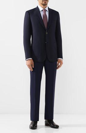 Мужской брюки из смеси шерсти и кашемира BRIONI темно-синего цвета, арт. RPL20W/08AB9/M0ENA | Фото 2