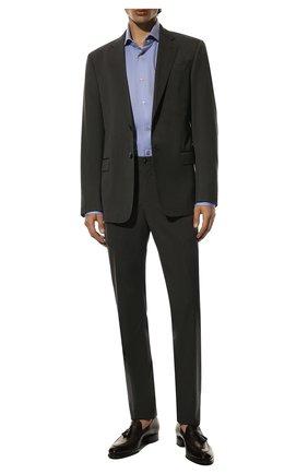 Мужские кожаные лоферы BRIONI темно-коричневого цвета, арт. QFDE0L/P6757 | Фото 2