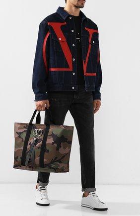 Текстильная сумка-шоппер Valentino Garavani VRing | Фото №2