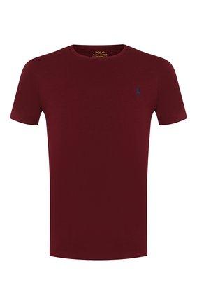 Мужская хлопковая футболка POLO RALPH LAUREN бордового цвета, арт. 710671438 | Фото 1