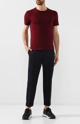 Мужская хлопковая футболка POLO RALPH LAUREN бордового цвета, арт. 710671438 | Фото 2