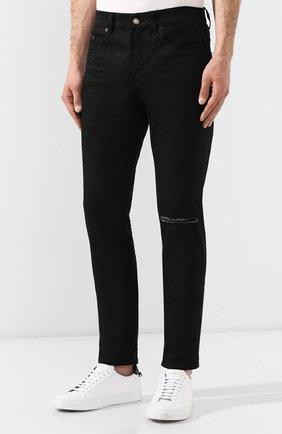 Джинсы Saint Laurent черные | Фото №3