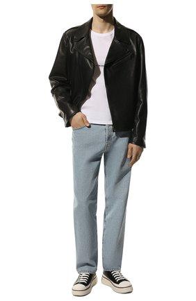 Мужская хлопковая футболка SAINT LAURENT белого цвета, арт. 464572/YB2DQ | Фото 2