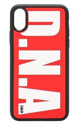 Мужской чехол для iphone x DOLCE & GABBANA красного цвета, арт. BP2418/AA236 | Фото 1