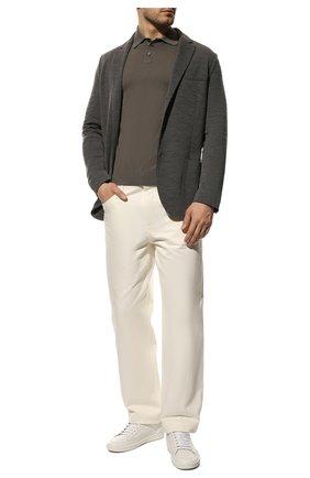 Мужской шерстяной пиджак LORO PIANA темно-серого цвета, арт. FAI7802   Фото 2