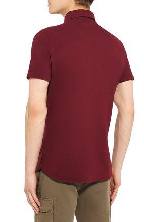 Мужское хлопковое поло LORO PIANA бордового цвета, арт. FAI1315 | Фото 4