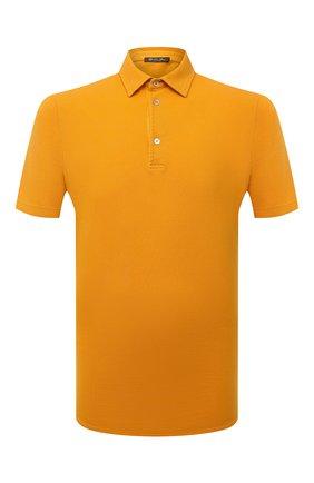 Мужское хлопковое поло LORO PIANA желтого цвета, арт. FAI1315 | Фото 1