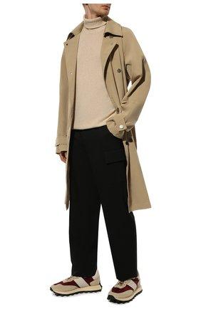 Мужской кашемировый свитер LORO PIANA кремвого цвета, арт. FAG3513 | Фото 2