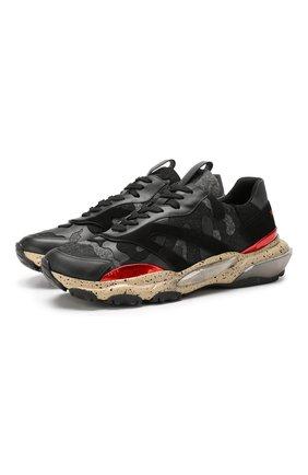 Комбинированные кроссовки Valentino Garavani Bounce | Фото №1