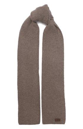 Мужской шерстяной шарф BRIONI коричневого цвета, арт. 03MB0L/08K30 | Фото 1
