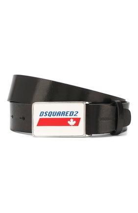 Мужской кожаный ремень DSQUARED2 черного цвета, арт. BEM0212 12900001 | Фото 1