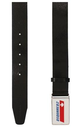 Мужской кожаный ремень DSQUARED2 черного цвета, арт. BEM0212 12900001 | Фото 2