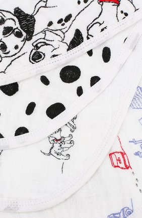 Детский комплект из 2-х нагрудников ADEN+ANAIS черно-белого цвета, арт. DISN283G | Фото 2