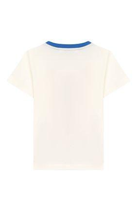 Детский хлопковая футболка DOLCE & GABBANA белого цвета, арт. L1JT7W/G7SPR | Фото 2