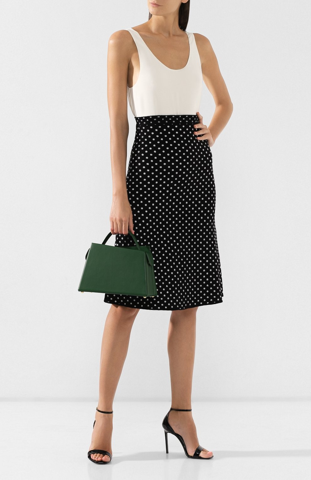 Женская сумка maurice BY FAR зеленого цвета, арт. MAURICE/LEATHER | Фото 2