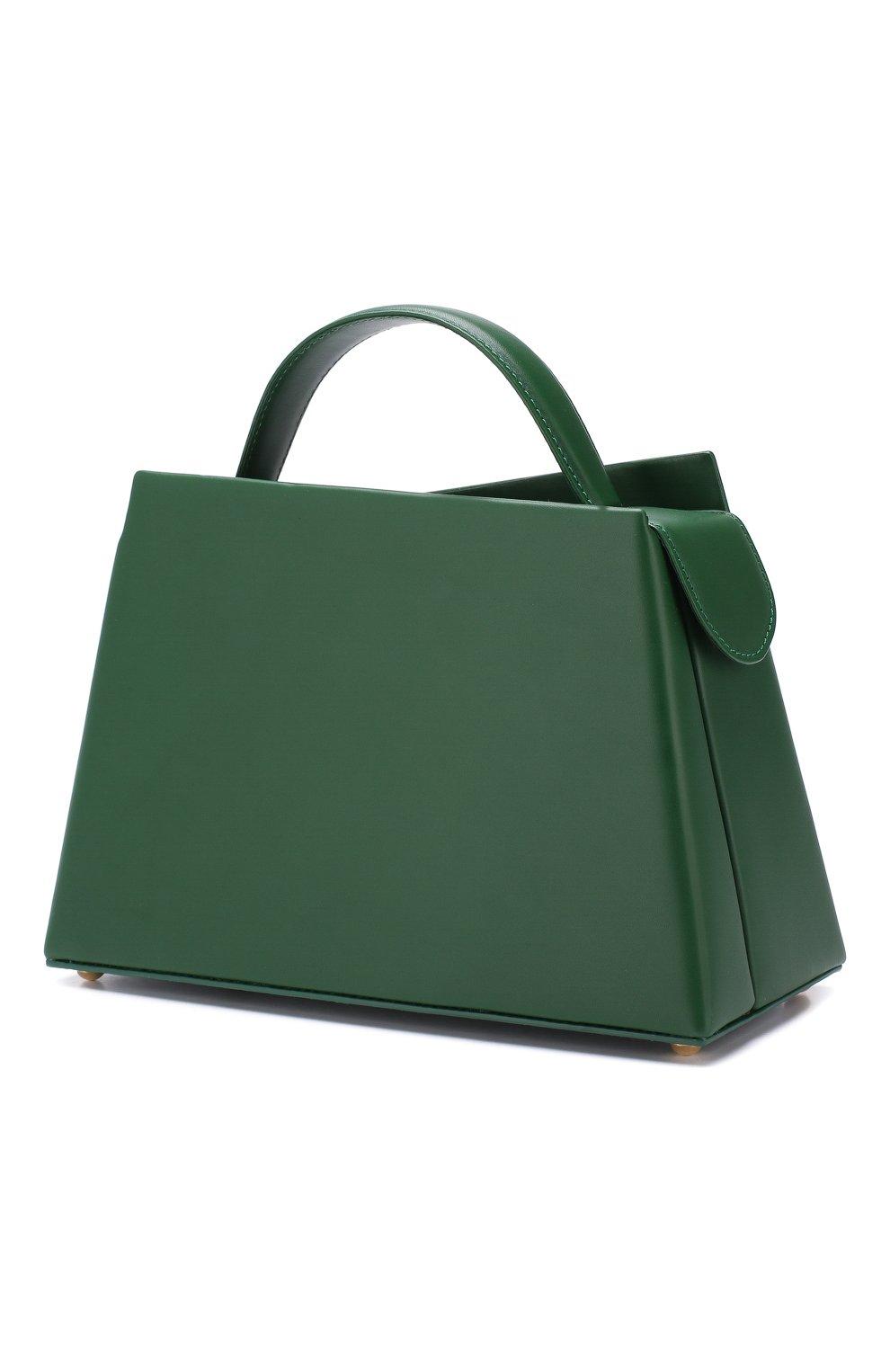 Женская сумка maurice BY FAR зеленого цвета, арт. MAURICE/LEATHER | Фото 3